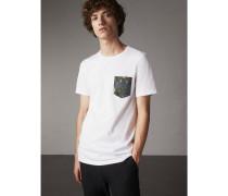 Baumwoll-T-Shirt mit Taschendetail und  Beasts-Motiv