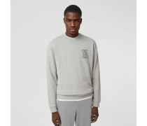 Baumwollsweatshirt mit Monogrammmotiv