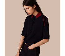 Poloshirt Aus Wolle Mit Epaulettendetail