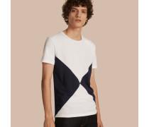 T-Shirt aus Baumwolle mit einem grafischen Geometriedruck
