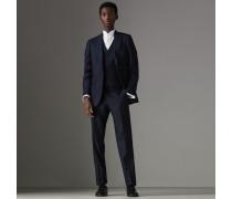 Dreiteiliger Anzug aus Wolle und Seide in schmaler Passform