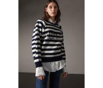 Pullover aus Wolle und Kaschmir mit Breton-Streifen