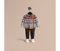 Baumwollhemd mit Taschen im Karodesign