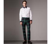 Hemd aus Baumwollpopelin mit Schottenmusterdetails