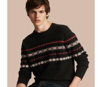 Pullover aus Kaschmir und Wolle im Fair Isle-Design