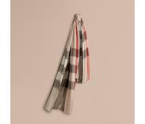 Schal aus Modal, Kaschmir und Seide mit Check-Muster