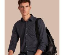 Hemd aus Baumwollpopelin mit Aufdruck