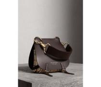 The Bridle Bag aus Leder und Haymarket Check-Gewebe