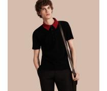 Poloshirt Aus Einer Wollmischung Mit Kontrastierendem Kragen