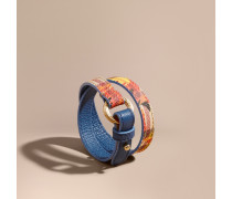Wickelarmband in Haymarket Check mit floralem Muster