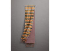Langer wendbarer Kaschmirschal mit Vintage Check-Muster