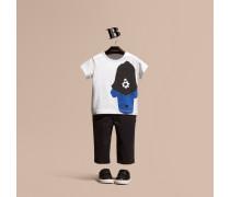 T-shirt Aus Baumwolle Mit Spürhundmotiv