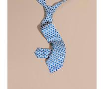 Modern geschnittene Seidenkrawatte mit geometrischem Muster