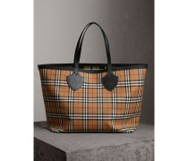 The Giant Tote aus Baumwolle in Vintage Check