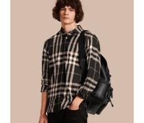 Hemd aus Baumwoll-Kaschmir-Flanell mit Karomuster