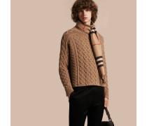 Pullover aus Wolle und Kaschmir mit Zopfmuster