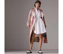 Hemdkleid aus Stretchbaumwolle mit Biesendetail