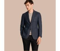 Modern geschnittenes Jackett aus Wolle und Kaschmir in Panamabindung