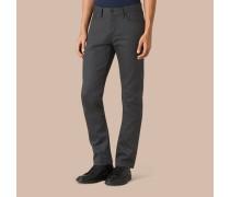 Gerade geschnittene Jeans aus japanischem Selvedge-Denim