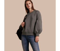 Sweatshirt aus Jersey mit Glockenärmeln