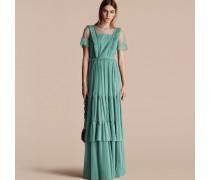 Bodenlanges Kleid Mit Rüschendetail
