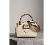 The Small Buckle Tote aus Leder in Zweitonoptik