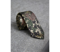Schmale Krawatte aus Seidenjacquard mit  Beasts-Motiv