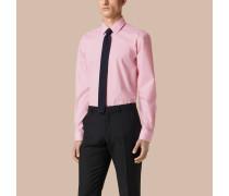 Modern geschnittenes Hemd aus Baumwollpopelin mit Vichy-Muster