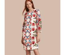 Shiftkleid aus floraler Spitze mit Puffärmeln