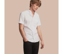Kurzärmeliges Hemd aus Stretch-Baumwollpopelin