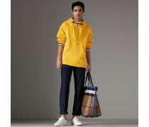 Oversize-Sweatshirt mit Kapuze und Reißverschlussleiste