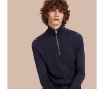 Pullover aus Merinowolle mit Reißverschluss am Kragen