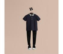 Poloshirt mit Check-Kragen