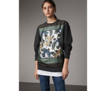 Unisex-Sweatshirt mit  Beasts-Aufdruck und Seidenpanel