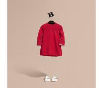 Kleid Aus Kaschmirstrick Mit Check-detail An Den Ärmelabschlüssen