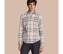 Hemd aus Chambray-Baumwolle mit Karomuster