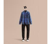 Hemd aus Baumwolle mit Karomuster und Button-down-Kragen