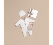 Vierteiliges Baby-Geschenkset aus Baumwolle