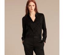 Bluse aus Seide mit farblich abgestimmtem Check-Muster