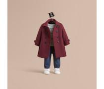 Mantel aus Wolle und Kaschmir in Twillwebung