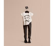 Baumwoll-t-shirt Mit Bienen-motiv