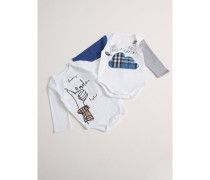 Zweiteiliges Baby-Geschenkset aus Baumwolle mit London-Motiven
