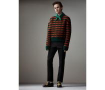 Formschöner Pullover aus Wolle und Baumwolle mit geometrischem Muster