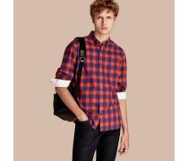 Baumwollhemd mit Vichy-Muster