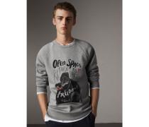 """Sweatshirt aus einer Baumwollmischung mit """"Open Spaces""""-Motiv"""
