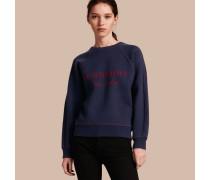 Sweatshirt aus einer Woll-Kaschmir-Mischung mit Steppnahtdetail