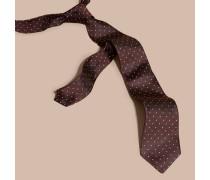 Modern Geschnittene Krawatte Aus Seidentwill Mit Punktmuster