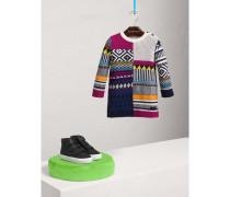 Pulloverkleid aus Wolle und Kaschmir im Fair Isle-Design