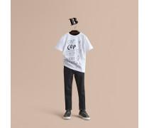 T-Shirt aus Baumwolle mit Londoner Wahrzeichen-Motiv