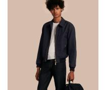 Jacke aus einer Baumwollmischung mit Check-Detail